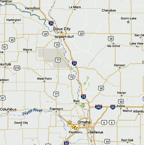Map of the Heartland CBMC area of influence. CBMC is the Christian Business Men's Connection.